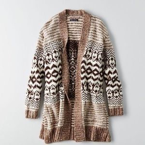 American Eagle Patterned Open Cardigan Size XS
